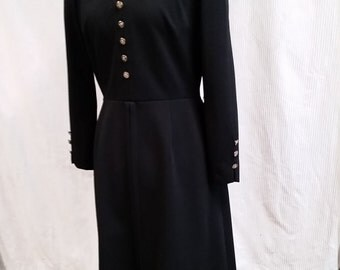 very cute navy 1970s dress