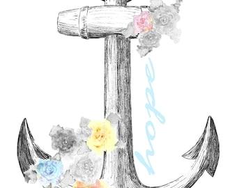 Anchor of Hope - multi-color - Digital Download