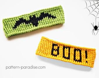 Crochet Pattern for Headband, Ear Warmer Halloween PDF 16-273