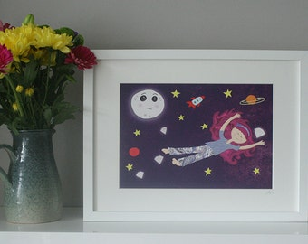 Framed Print A4 - Lucy in the sky