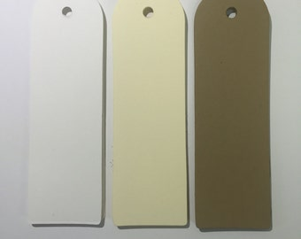 "50 Extra Long Blank tags, 1.5"" x 5""  Kraft tags, Wedding wish tree tags, Gift tags, Holiday tags"