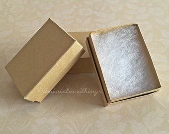 "10 Kraft Gift Boxes 3 1/16 x 2 1/8 x 1"""
