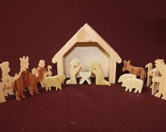 Nativity set - 15 handcrafted pieces