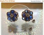SALE 30 Swarovski Cobalt Crystal Earrings
