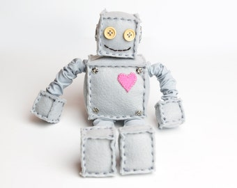 Heart Plush Felt Robot