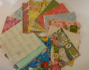 Vintage Gift Wrapping Paper Collection of 20 Patterns/Packages 60's and 70's Assorted Themes Made in USA