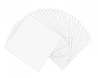 Sizzix - Paper Leather Sheets - 8 1/2in x 11in White - 10 Pack
