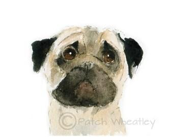 Pug Dog Art Print #13