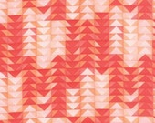 20% off! 1canoe2 Coral Geometric Flying Geese for Moda Fabric Tucker Prairie Moda Floral - Coral Triangle - 1canoe2 Fabric Peach Material