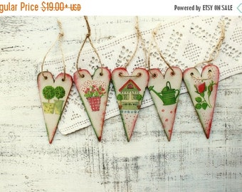 CHRISMAS IN JULY 23-25.7 Wooden hearts heart ornaments garden spring wedding favors Valentines day decor bridal shower boho wedding, bohemia