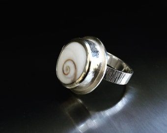 Natures Impressions Ring, Seashell Ring. Ocean Ring