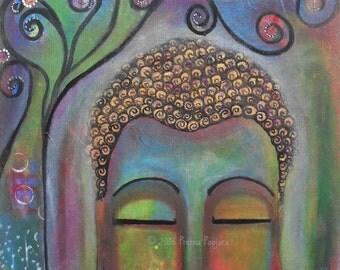 Buddha under tree of life