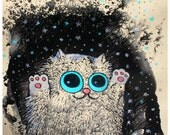 Winter KirryCat Art Print 8.5/11 inch