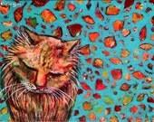 """Original Painting """"Nostalgia Cat"""""""