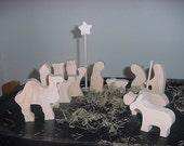 12 Days of Christmas Unfinished  Nativity Set  (Medium size)