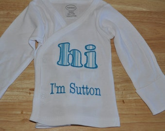 Hospital Introdction Baby Shirt