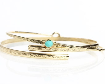 Genuine Turquoise Bangle / December Birthstone / Sleeping Beauty Turquoise Bracelet / Delicate Sterling Silver Bangle / Bohemian Jewelry
