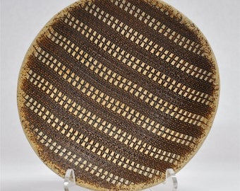 small ceramic striped bowl