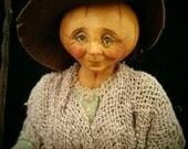 The Pumpkin Witch 12th scale miniature OOAK doll  IGMA Artisan