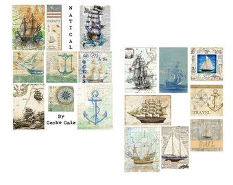 Lets Get Nautical Digital Collage Set