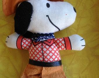 Vintage Knickerbocker Snoopy Cowboy Doll