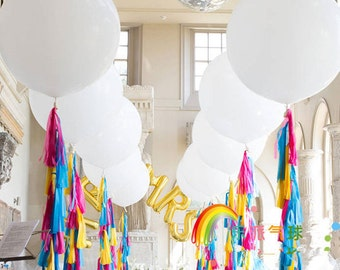 White 36 INCH JUMBO BALLOON : The Paper Doll