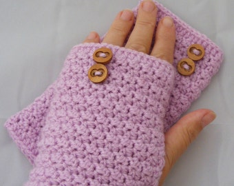 Crochet gloves, crochet fingerless gloves, UK handmade