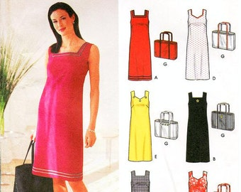 Simplicity Dress Pattern 7171 - Misses' A-Line Tank Dress in Six Variations and Tote Bag - Simplicity Patterns