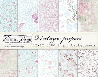 SALE Scrapbook Papers and Digital Paper Pack 24