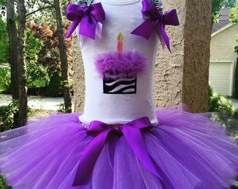 Purple Birthday Tutu Set, Cupcake Birthday Shirt, Cupcake Birthday Tutu, Purple Birthday Skirt, Birthday Tank, Birthday Shirt, Birthday Tutu