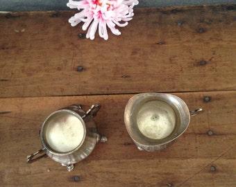 Antique milk and sugar set