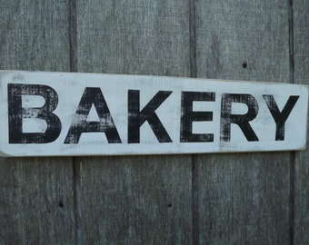 Wood Bakery Sign Pallet Wood Sign Reclaimed Wood Sign Farmhouse Decor