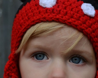 Hand Crocheted Mickey & Minnie Mouse Hats