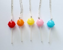 Lollipop Necklace - Kawaii Necklace Kawaii Jewelry Decora Pop Kei Fairy Kei Fairy Kei Jewelry Fairy Kei Necklace Food Jewelry Candy Jewelry