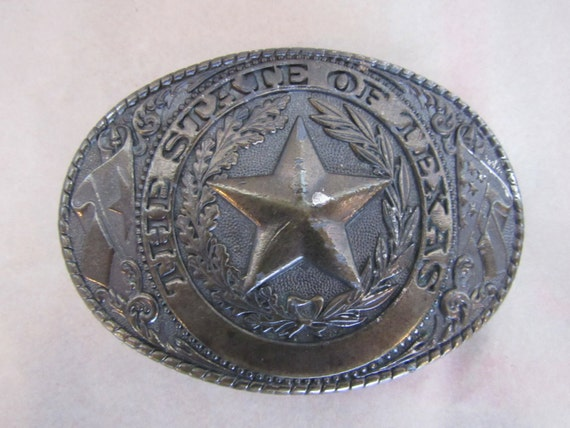 80s State of Texas Belt Buckle
