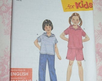 Simplicity 9170 Pants or Shorts and Knit Top Sewing Pattern UNCUT Size 3 4 5 6 7 8