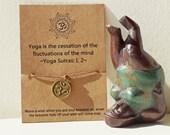 Buy 5 Free 1 ~ Yoga Wish Bracelet, Yoga Quote Bracelet, OM Wish Bracelet, OM Friendship Bracelet, OM Gift, Yoga Gift, Yoga Bracelet, Om