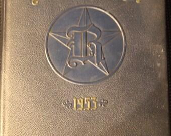 "Original 1953 ""Rhodester"" Rhodes School NYC Yearbook"