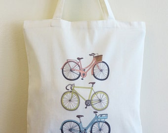 Bicycle Tote Bag, Reusable Bag