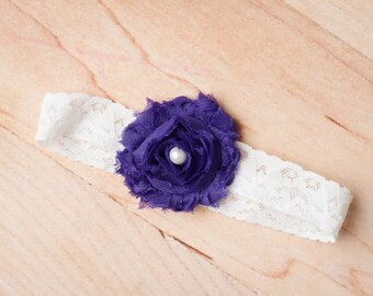 FREE SHIPPING! Purple Baby Headbands, Purple Headbands, Purple Flower Headband, Newborn Headbands, Baby Headbands, Purple Baby Headband