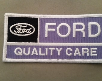 ford quality care embroidered patch