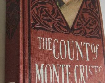 SALE 1901 Antique Book The Count of Monte Cristo Book Alex Dumas Victorian Lady Book Alexandre Dumas Romance Novel Victorian coffee table de