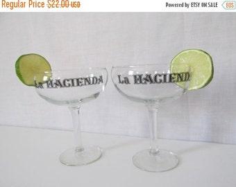 SALE Pr LARGE Margarita Glass Master Margarita Glasses La Hacienda Glasses Needs Margarita Mix & Margarita Salt Great Margarita Gift Idea