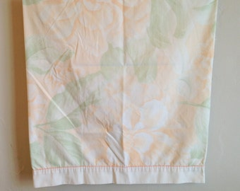 Vintage Cannon Pillowcase, Peach Flowers Pillow Case, Standard Floral Pillowcase