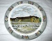 "Jonroth Adams Rocky Mountain National Park Colorado ""Fall River Store"" Plate, ca. 1950s"