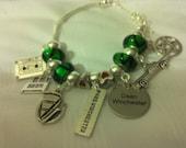 Supernatural inspired Mrs Dean Winchester European Charm Bracelet