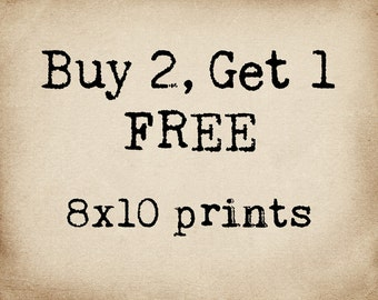 BOGO Buy 2 Get 1 Free 8x10 Prints, You Pick, Sale, Christmas Gifts, Stocking Stuffer, Dorm Decor, Happy Holidays, Graphic Prints, Geekery