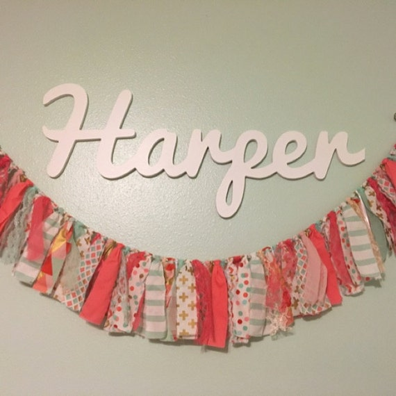 Wooden name sign wooden names letters for nursery nursery for Baby name letters decoration