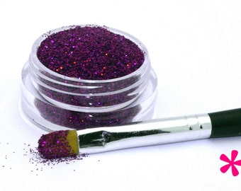 GRAPE JELLY Cosmetic Glitter for Makeup, Eye Shadow, Lips, Nail Polish, Body Shimmer & Hair Sparkle (C022)