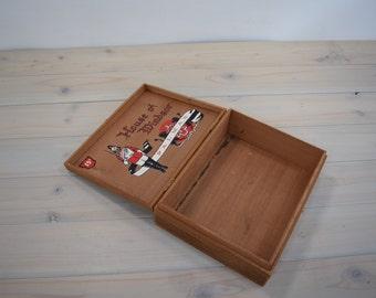 Vintage Cigar Box, Wood Box, wooden Cigar Box, House of Windsor, Palmas